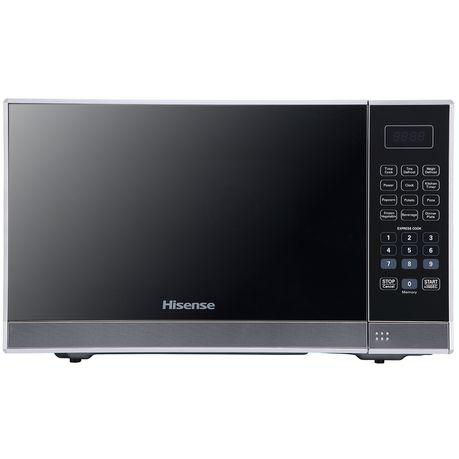 hisense 36 litre microwave oven mirror silver