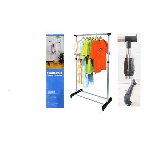 single pole telescopic clothes rack
