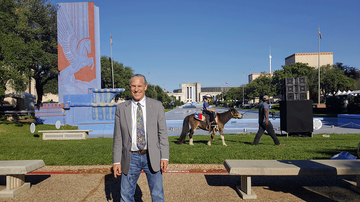 Republican Trammell S. Crow, founder of Earth Day Texas, poses at the end of the multiday event in April 2017 that attracted 100,000 people to find bipartisan environmental solutions.  |  Rebecca Harrington\/Business Insider