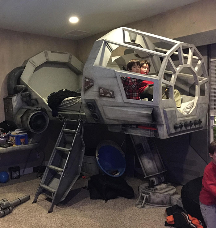 Geeky Uncle Builds Star Wars Room For Brothers Son
