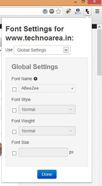 Change_Font_Chrome_TechnoArea