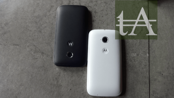 Motorola Moto E Back Black White