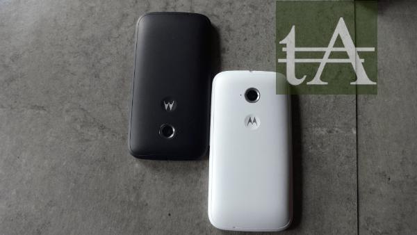 Motorola Moto E Back Black White