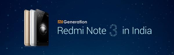 Xiaomi Redmi Note 3 Launch Date