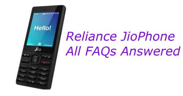 JioPhone FAQ