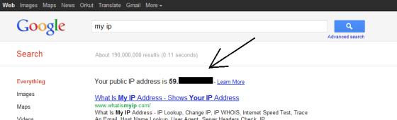 IP Address On Google
