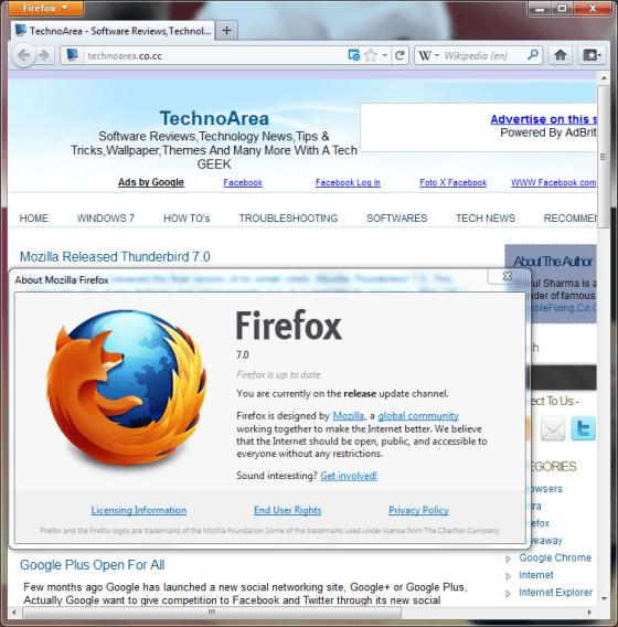 Mozilla Firefox 7.0