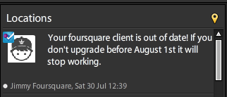TweetDeck Dont Support FourSquare