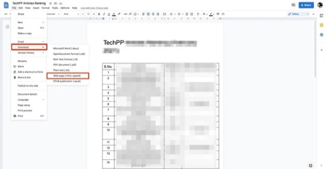 Importing a Google Docs Document into Google Sheets