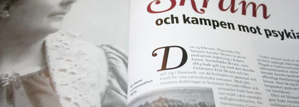 Om Amalie Skram i Historiskan
