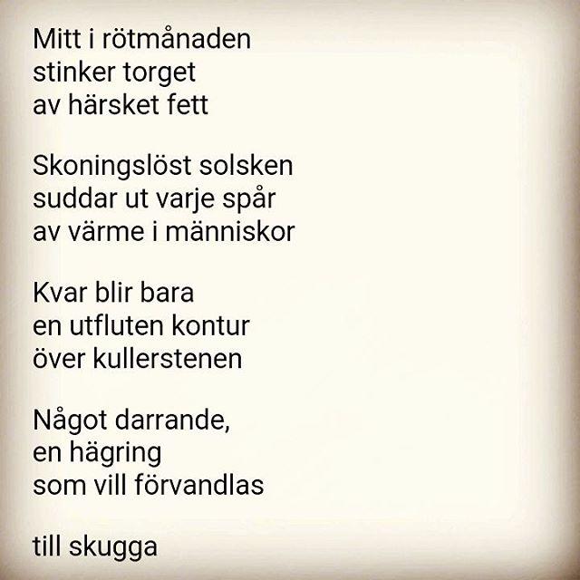 Dagens #dikt #sommar #poesi
