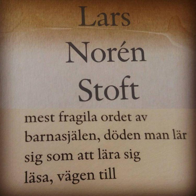 """Lars Noréns """"Stoft"""" är, så att säga, ren poesi. En lugnande, livgivande koffeininjektion av läslyckorus #poesi #diktsamling #norén #boktips"""