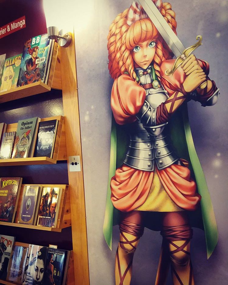 Sword Princess Amaltea från Natalia Batistas mangaalbum på Ängelholms bibliotek 😍 #bibliotekarieturist #svenskmanga #swordprincessamaltea #nataliabatista