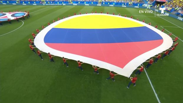 """[World Cup 2018] """"Los Cafeteros"""" vibran con el Himnode la República deColombia"""