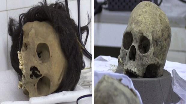 Cráneos de antepasados recuperan su rostro después de 3,000 años