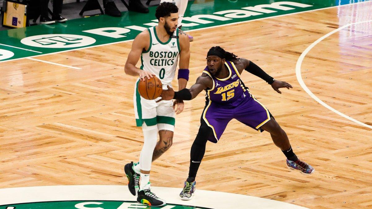 Lakers caen ante Celtics en su primer partido con fanáticos