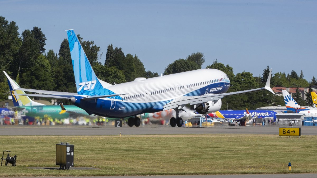 New version of Boeing's 737 Max aircraft makes its first test flight