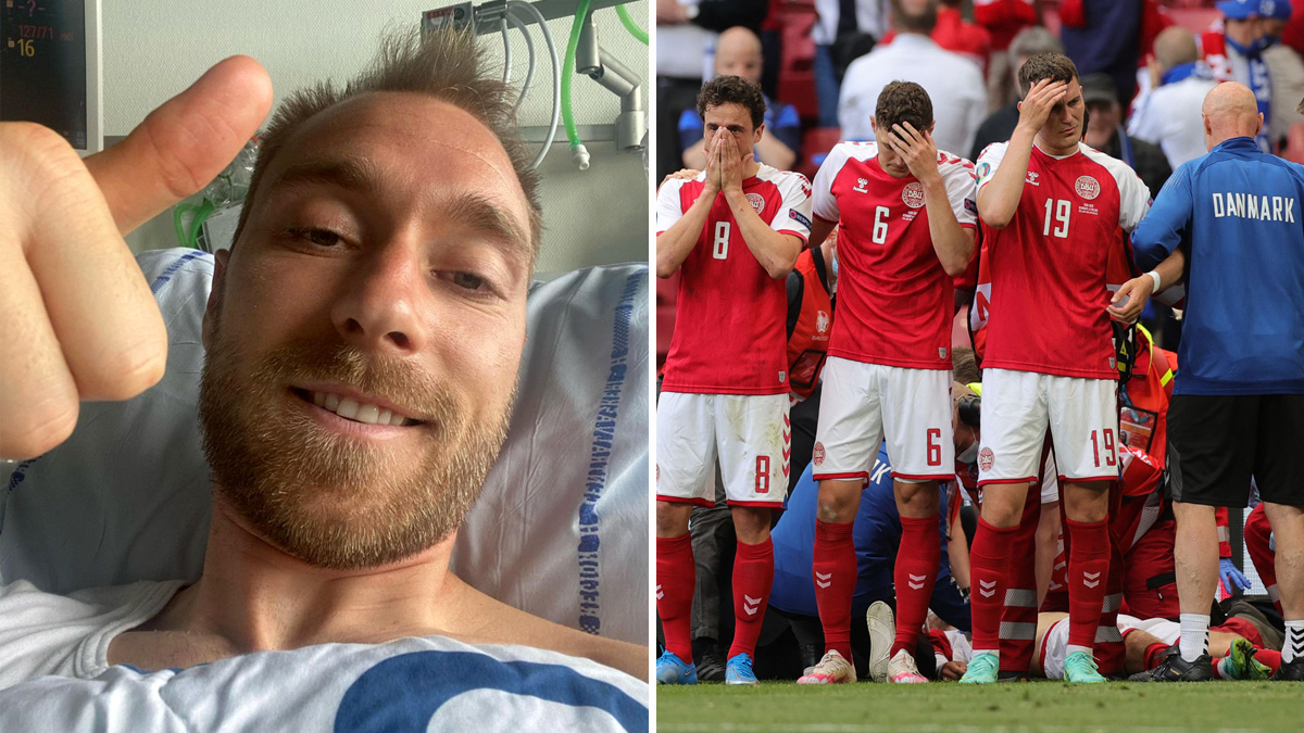 First words of the footballer who returned from death after collapsing in the middle of the game