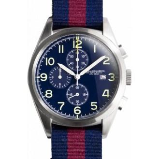 Regimental chrono bleu bracelet bleu et rouge Spalding, 235€