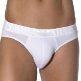 Slip Xmas Eagle Stretch Cotton Blanc Emporio Armani
