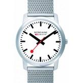montre-mondaine-ultra-fine-blanche-bracelet-milanais-41mm
