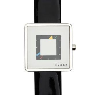 Montre Hygge series 2089 blanc, bracelet cuir vernis : 99€