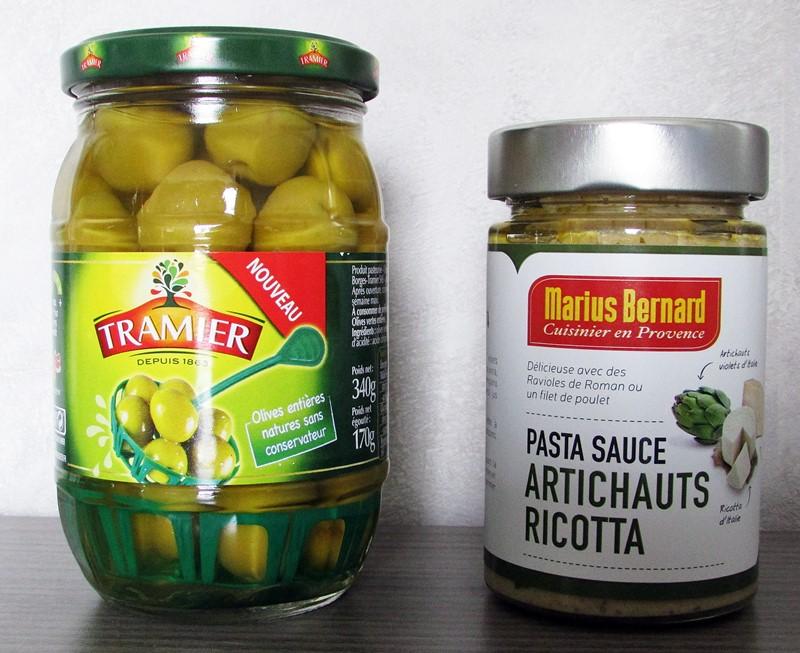 olives et pasta sauce