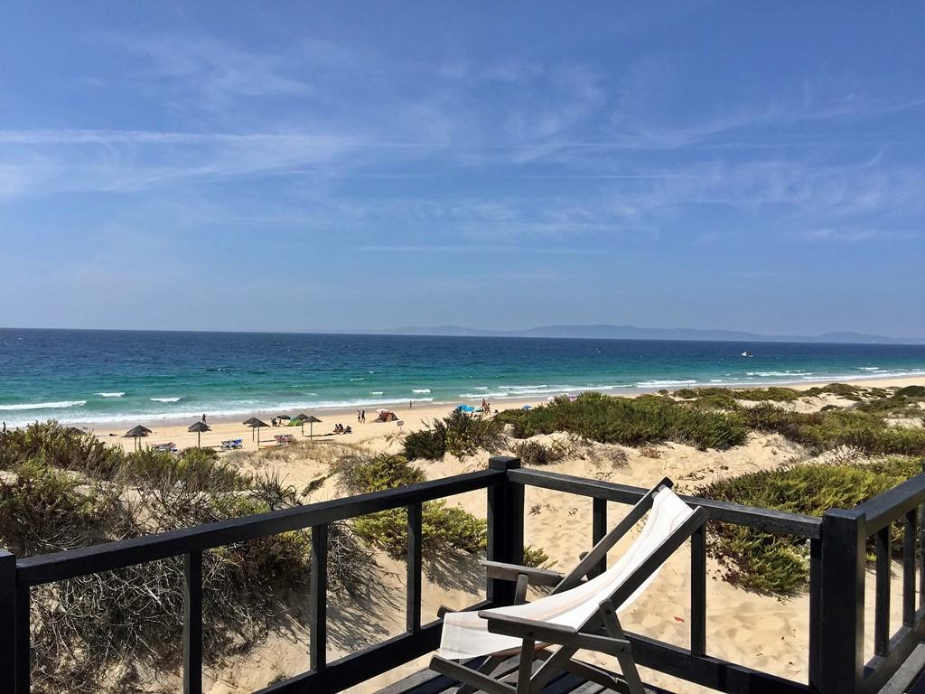 plage troia vue depuis la terrasse restaurant sal
