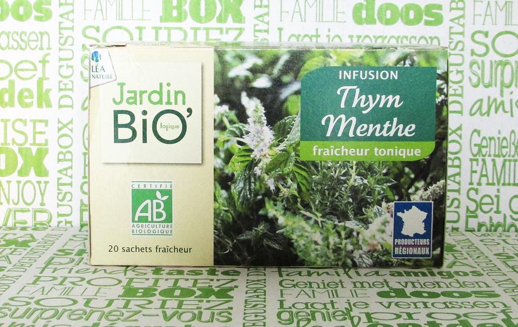 jardin bio infusion thym menthe - degustabox