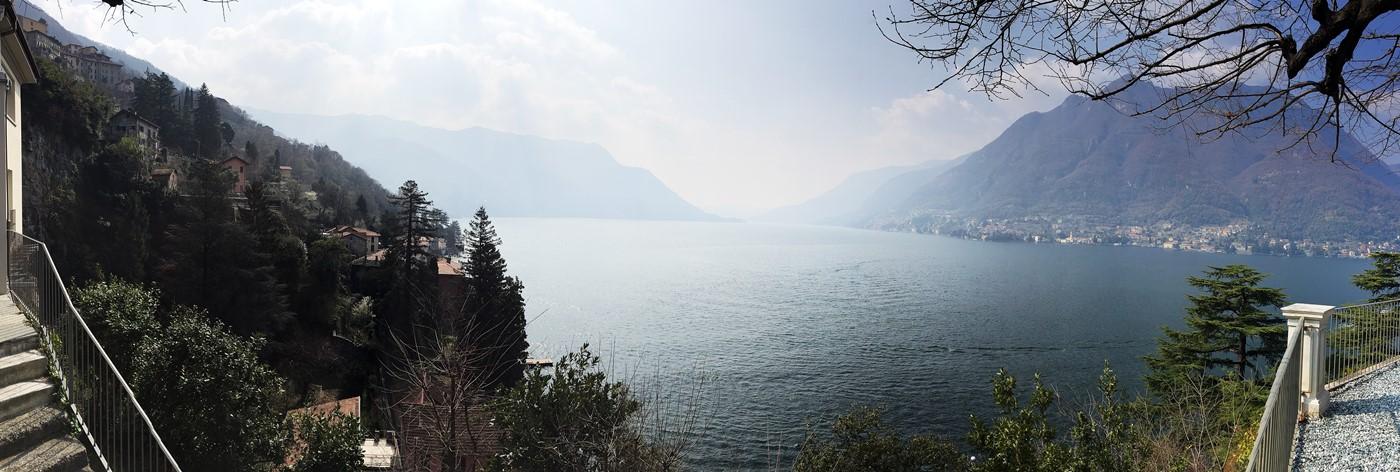 vue panoramique lac de come