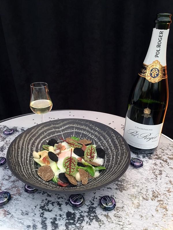 champagne pol roger - plat jerome Feck
