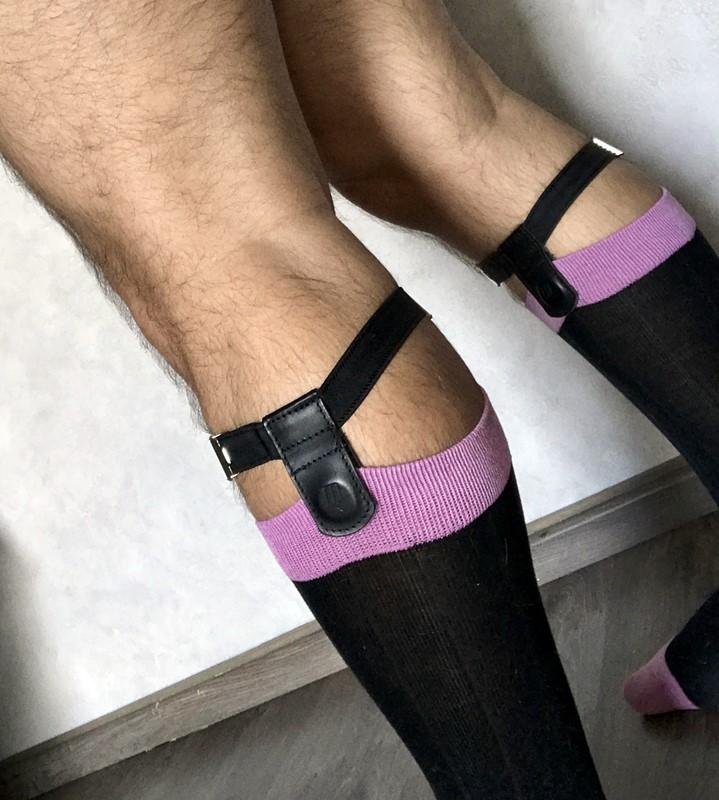 fixe-chaussettes mataki en action