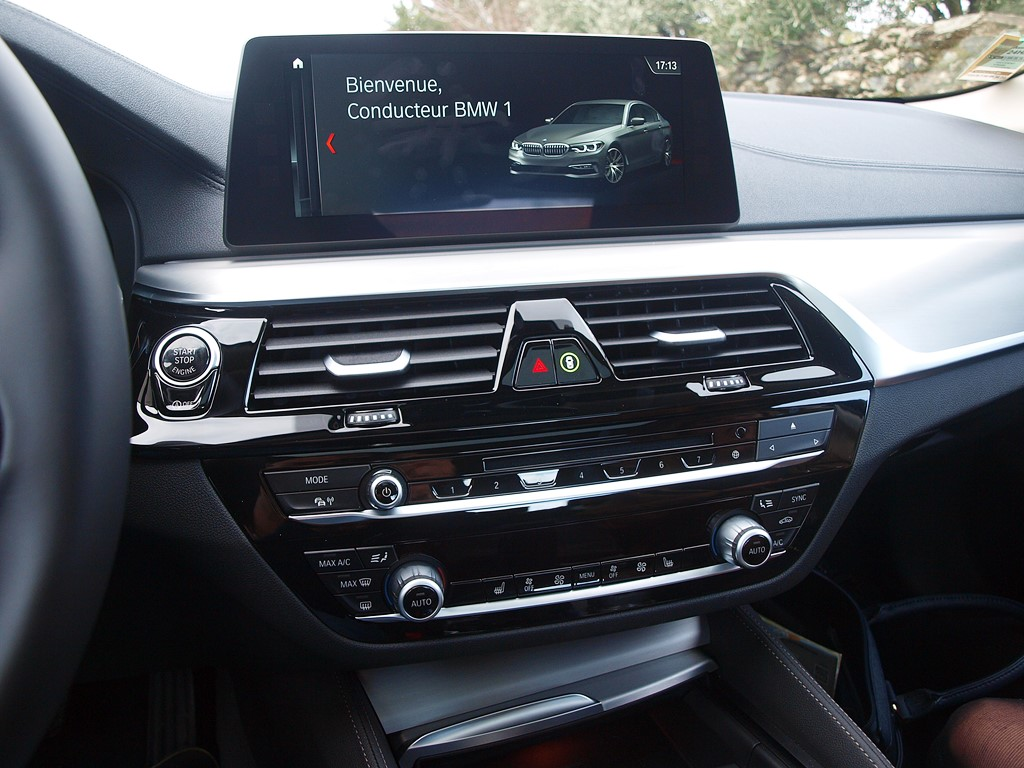 bmw serie 5 console multimedia