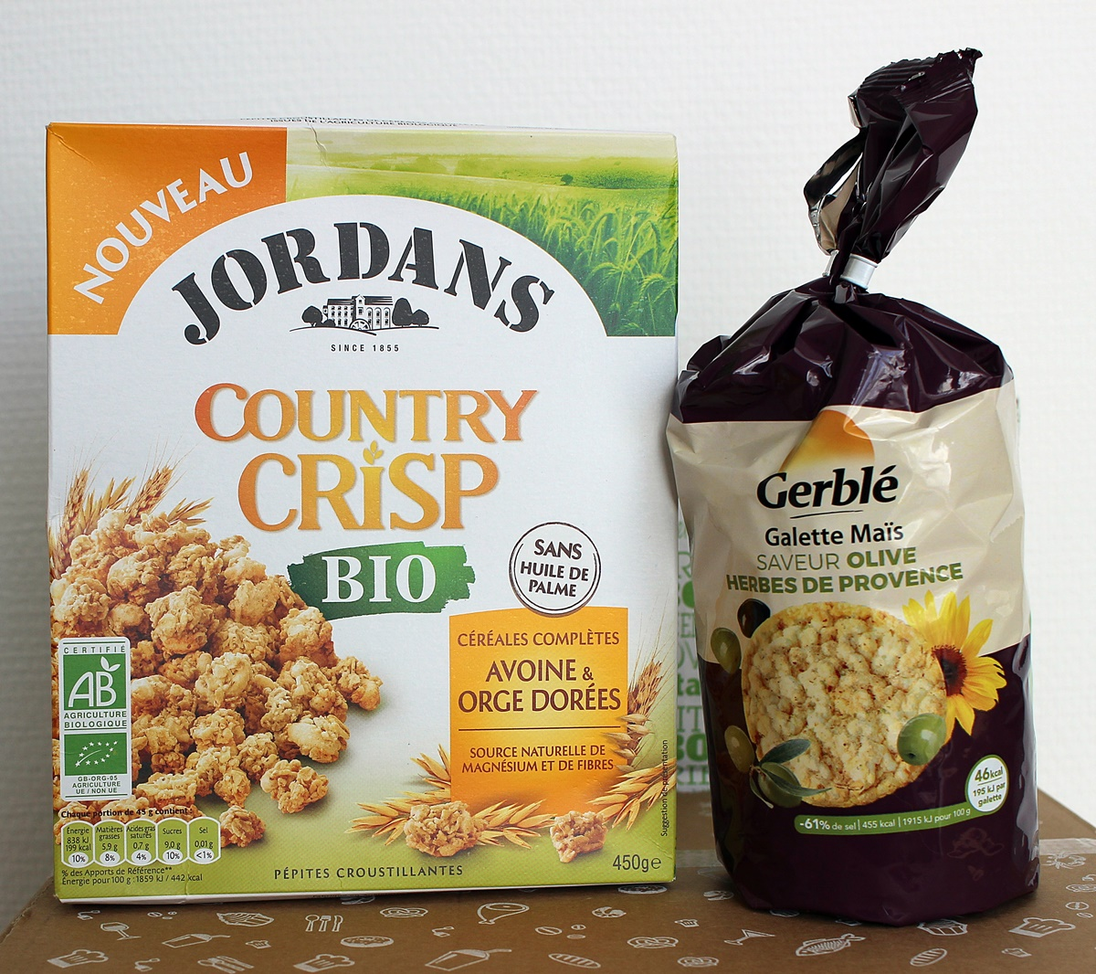 degustabox jordan's gerble