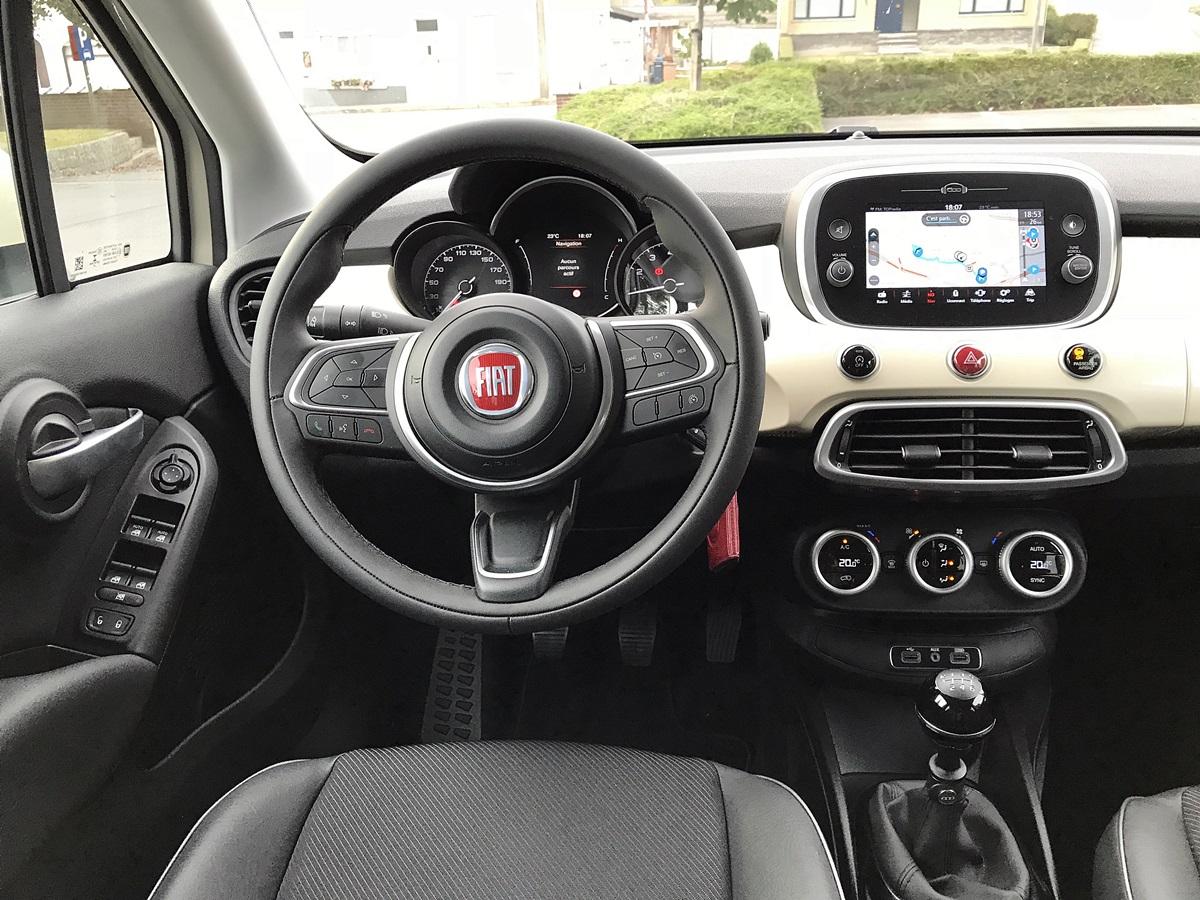 Fiat 500X - nouvel interieur