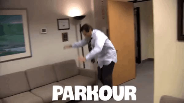 The Office Parkour Gifs Tenor