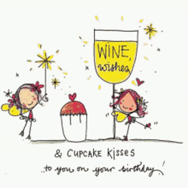Wine Birthday Funny Gifs Tenor