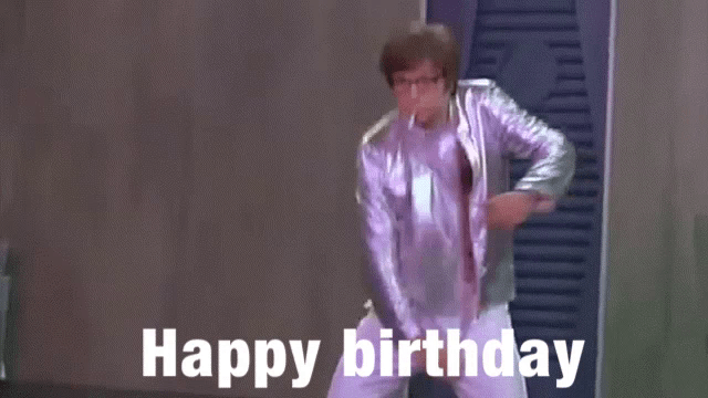 Austin Powers Happy Birthday Gif Austinpowers Happybirthday Takeyourshirtoff Discover Share Gifs