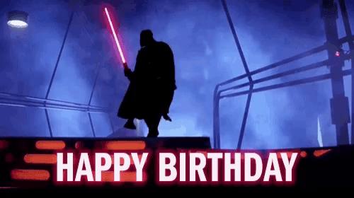 Happy Birthday Darth Vader Gif Happybirthday Darthvader Dance Discover Share Gifs
