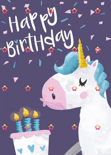Unicorn Birthday Gifs Tenor