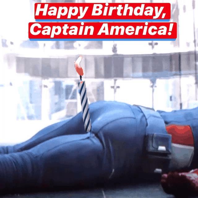 Happy Birthday From Captain America Gifs Tenor