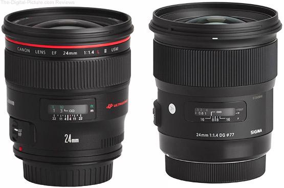 Should I Get the Canon EF 24mm f/1.4L II USM or Sigma 24mm f/1.4 Art Lens?