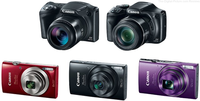 Newly Announced Canon PowerShot Cameras