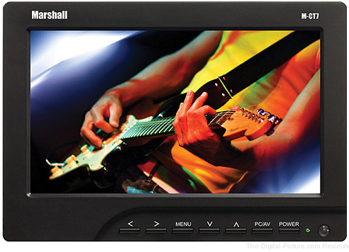 "Marshall Electronics 7"" LCD Monitor with Canon LP-E6 Plate/Battery/Charger"