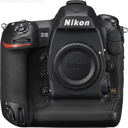 Nikon D5 DSLR Camera (Dual XQD Slots, Open Box) - $  6,100.00 Shipped (Compare at $  6,496.95 New)