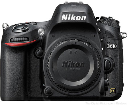 Nikon D610 DSLR Camera - $  979.00 Shipped (Compare at $  1,296.95)