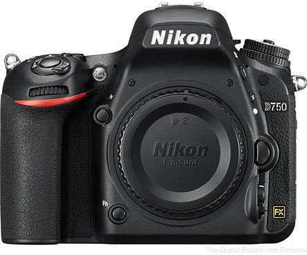 Refurb. Nikon D750 DSLR Camera - $  1,399.00 Shipped (Compare at $  1,996.95 New)