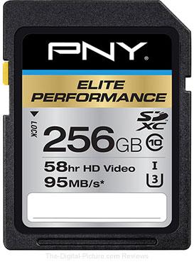 PNY Technologies 256GB Elite Performance UHS-1 SDXC Memory Card (U3, Class 10)