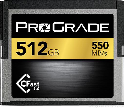 ProGrade Digital CFast 512GB (550MB/sec) Memory Card
