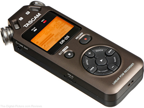 Tascam DR-05 Portable Handheld Digital Audio Recorder (Bronze) - $  79.99 Shipped (Compare at $  99.99)